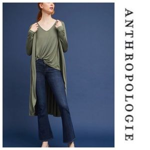 Anthropologie Layered Top & Cardigan New Large NWT